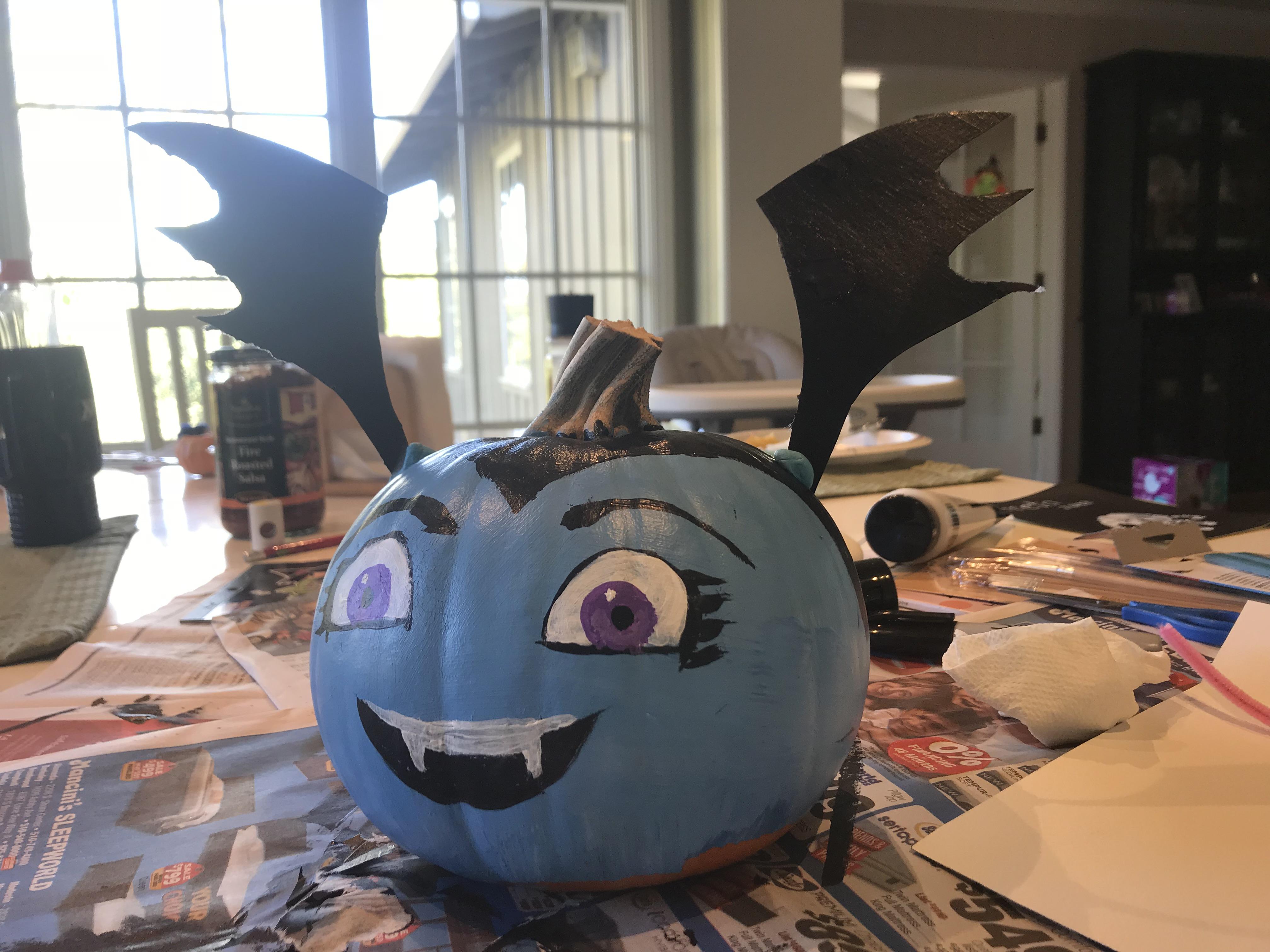 Kids Art Pumpkin Painting Vampirina Pumpkin